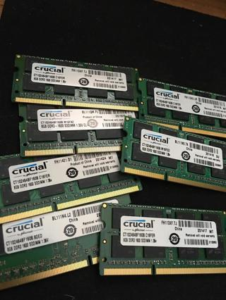 7 of the 8gb crucial memory sticks!!!!!!!!!!