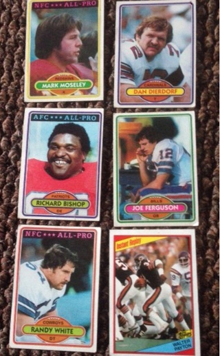 1980 topps football cards including 1984 Walter Payton