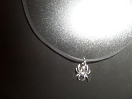 New! Gothic creepy Tibetan silver spider necklace