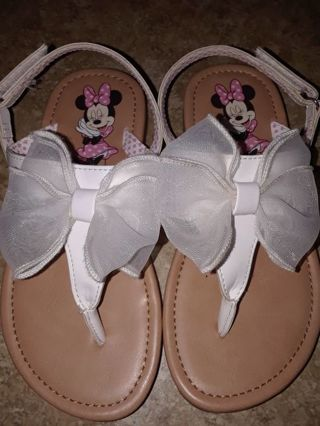 Girls Minnie Mouse Sandals size 10 1/2 *RELIST *