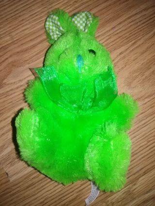 Bright Green Bunny Stuffed Toy