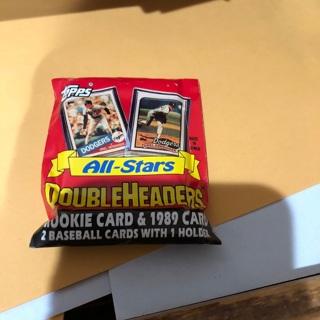 1989 topps all stars doubleheaders baseball unopened pack