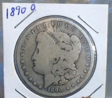 1890-O Morgan Silverdollar. 90% silver. FREE SHIPPING