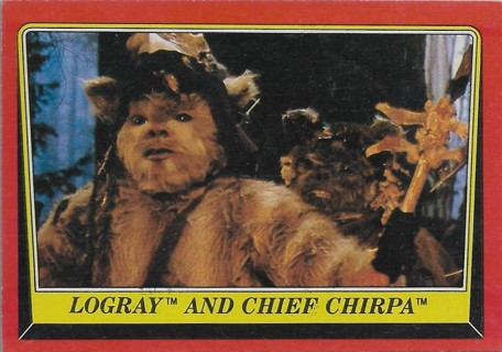 1983 Star Wars Return of the Jedi #85 Logray and Chief Chirpa