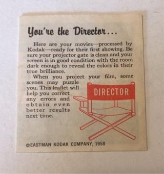 Vintage 1958 Eastman Kodak Film Leaflet