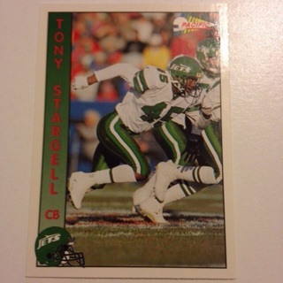Tony Stargell New York Jets 1992 Pacific Football Card