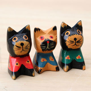 1PC Cute Animal Wood Carving Carving Sculpture European Style Home Decoration