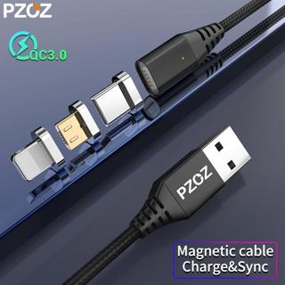 PZOZ Magnetic USB Cable Micro Usb c Cable Fast Charging Microusb Type c cable Magnet Charger For i