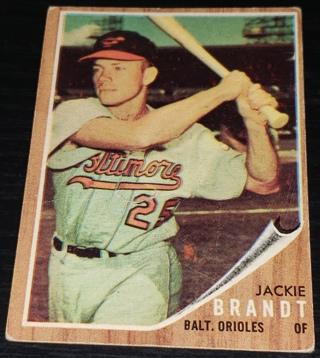 1962 ⚾ Topps Baseball - #165 Jackie Brandt ⚾ (Baltimore Orioles)