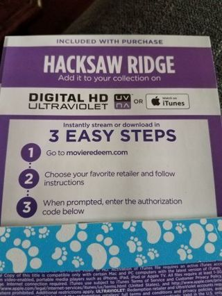 HACKSAW RIDGE!!!! (Digital movie)