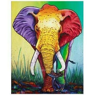 DIY 5D Elephant Diamond Embroidery Painting Cross Stitch Crafts Home Decor New