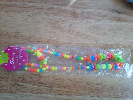 Kids Fashion Jewelry Necklace & Bracelet Set: New