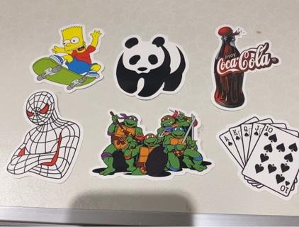 6 vinyl stickers