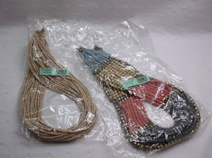 In Package - 2 Tarnishing Necklaces - Beaded