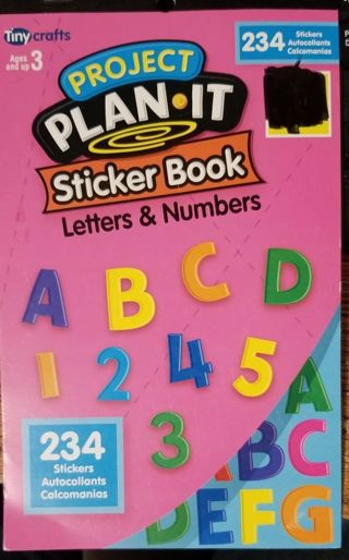 Sticker Book Letters & Numbers