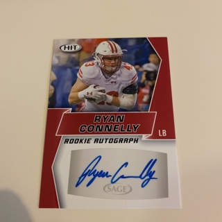 2019 Sage Hit Ryan Connelly Rookie Autograph Card