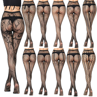 ✿Free Shipping✿ Women Pantyhose Sexy Solid Fishnet x1Pair