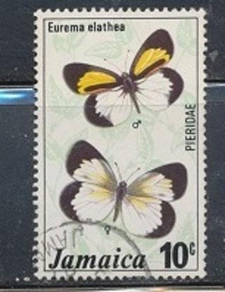 Jamaica:  1975, Jamaican Kite, Butterflies Series, Used, Scott # JM-398 - JAM-2400c