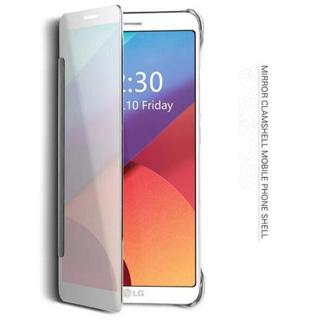 Mirror Plating Clear View Flip Folio Slim PC Bumper Case Cover For LG G5 4 6 V10