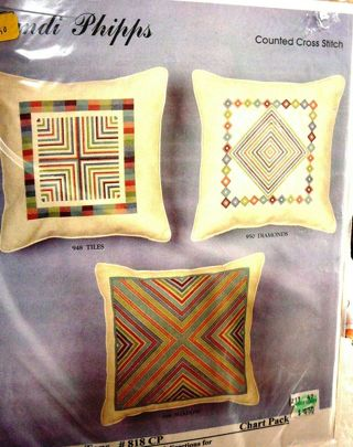 Sandi Phipps Cross Stitch Pillow Tops Pattern Pack