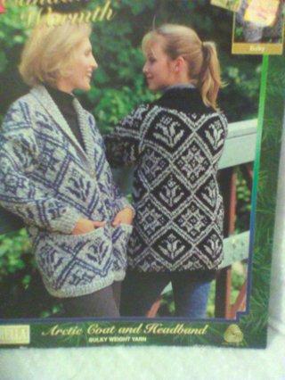 Bernat leaflet on knitting a coat and headband