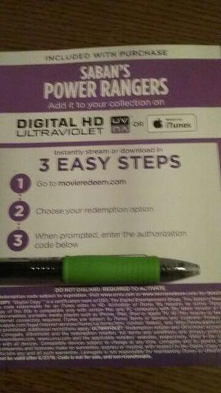 Sabans Power Rangers HD code