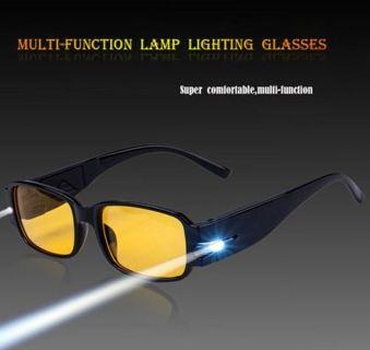 HOT Unisex Rimmed Reading Eye Glasses Eyeglasses Spectacal With 2 LED Light