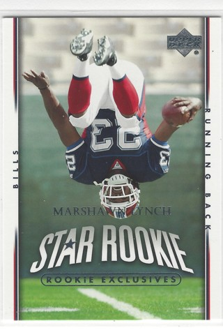 Marshawn Lynch 2007 Upper Deck Star Rookie Exclusives #280 RC Buffalo Bills