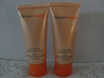 """Clinique """"Happy"""" Cooling Shimmer Gel 2 Tubes, NEW"""