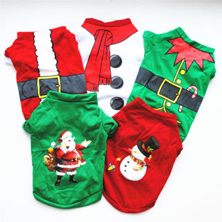 Hot Christmas Pet Vest Warm Clothes Costume Shirt Dog Puppy Sweater Top Xmas