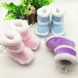Toddler Kids Baby Boots Soft Bottom Crib Shoes Infant Girls Winter Warm Booties