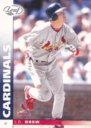 J.D. Drew 2002 Leaf St. Louis Cardinals