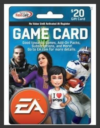 NEW $20.00 EA Gaming e GiftCard $20 eCard (Email Delivery)