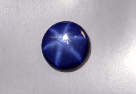 SAPPHIRE BLUE STAR NATURAL SIX POINT 9 MM ROUND 2.24 CARATS TAKE A LOOK WOW!