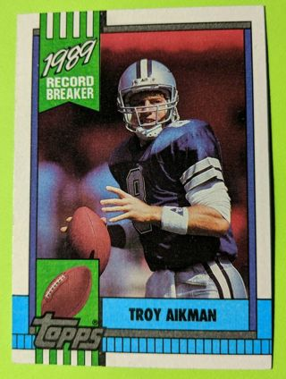 TROY AIKMAN RECORD BREAKER * MOST PASSING YARDS, GAME, ROOKIE