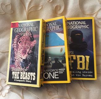HUGE SALE! Set of 3 National Geographic Movies VHS