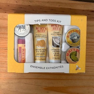 Brand New 6 pc Burt Bees Tips and Toes Travel Kit Gift Set