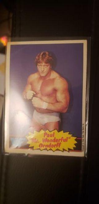 WWF Wrestling Stars. Paul Orndorff 1985 #5