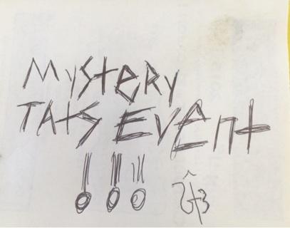 Mystery tats event!