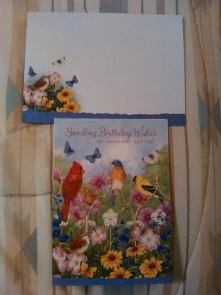 BIRTHDAY WISHES CARD WITH ENVELOPE -- NEW!!