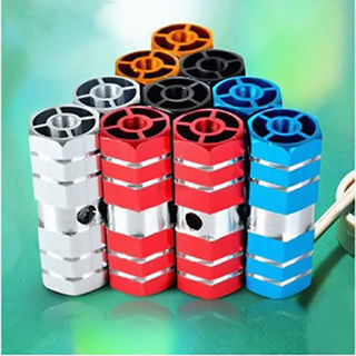 4x Axles Aluminum Alloy Stunt Foot Pegs Pedal BMX Bicycle Cycling Motor Wheel