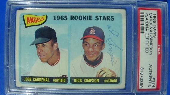 1965 Topps Dick Simpson #374 PSA/DNA