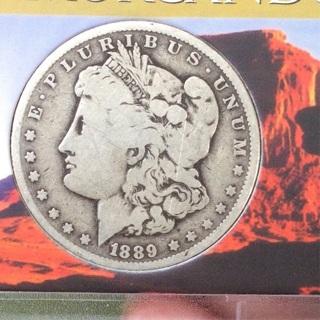 AU 1889-O Morgan Silverdollar. 90% silver. FREE SHIPPING
