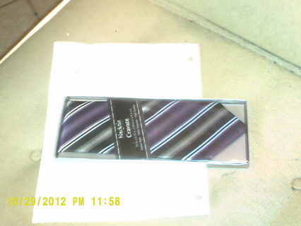 MEN'S PURPLE STRIPED TIE