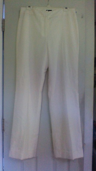 64a6165d Free: WOMENS WINTER WHITE SLACKS PANTS...SIZE: 12...NWT...GIN ...