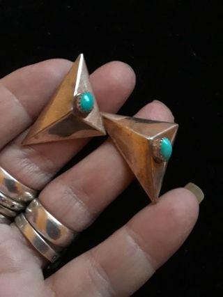 》》 Vintage Turquoise Earrings 《《