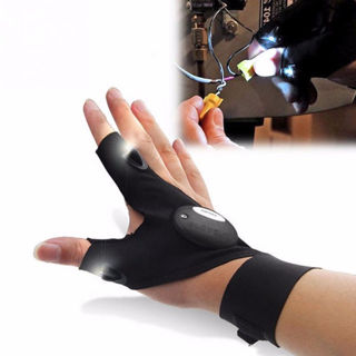 One Piece Glove with LED Light Flashlight Glove Camping Fishing Hunting