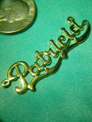 Patricia name plate ,pendant