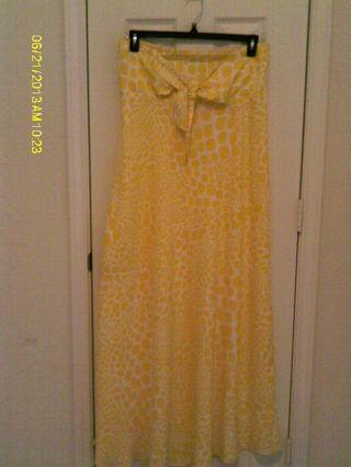 Beautiful Yellow and White Long Dress
