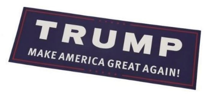 1 NEW Automobile Car Bumper Sticker President Donald Trump Support Sticker America FREE SHIPPING